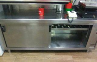mesa calienta platos