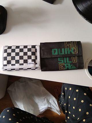 portefeuilles vans et quicksikver