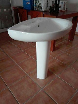 lavabo cerámica blanco