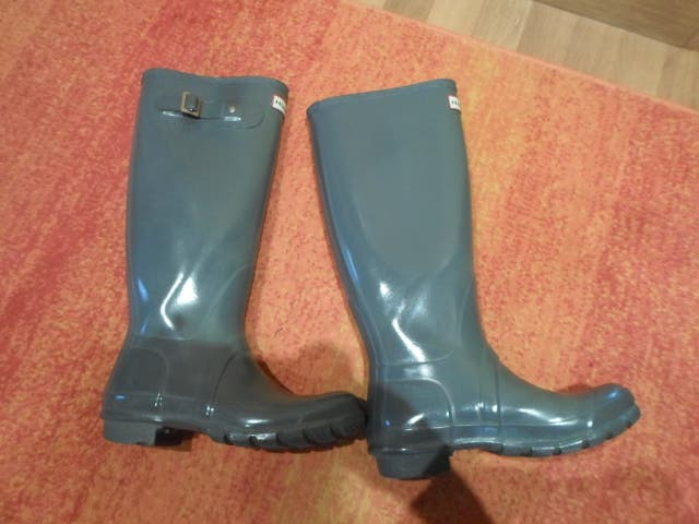 botas agua goma HUNTER talla 37 poco uso