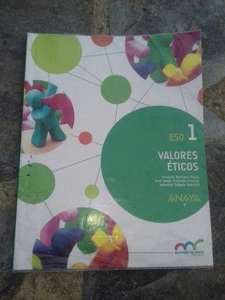 Libro de Valores Éticos 1ESO Anaya