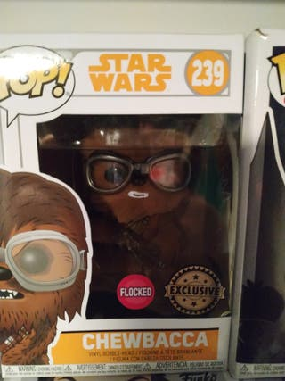 Funko Pop Chewbacca de Star Wars Flocked Exclusive