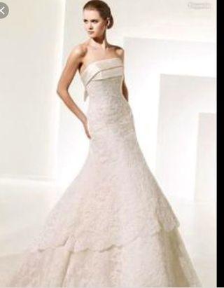 ebab07f4a Vestido de novia talla 38 de segunda mano en la provincia de Burgos ...