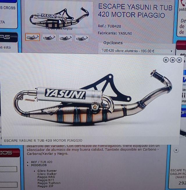 Escape Yasuni R Tub 420 Motor Piaggio