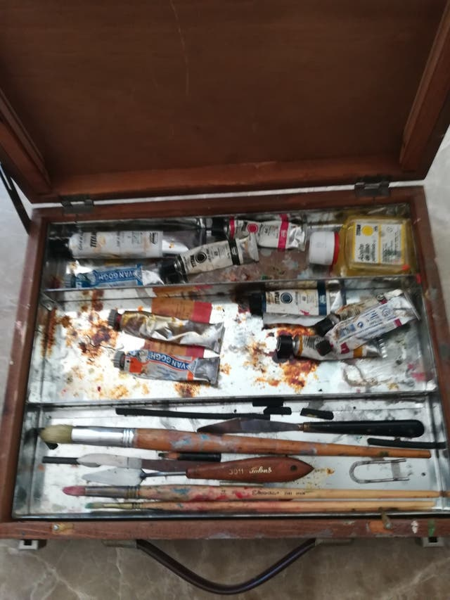Caballete + caja pintura óleo