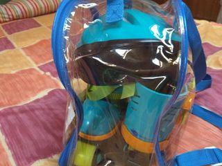 patines aprendizaje con protectores y casco