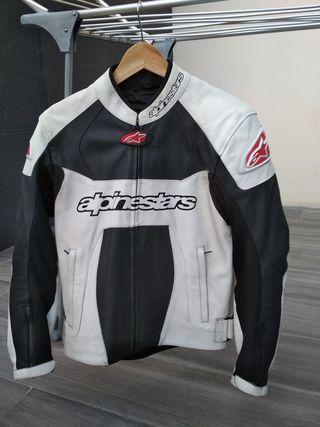 chaqueta de cuero moto alpinestars