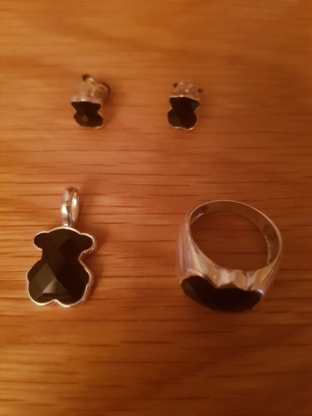 Pendientes, anillo y colgante TOUS Onix negro