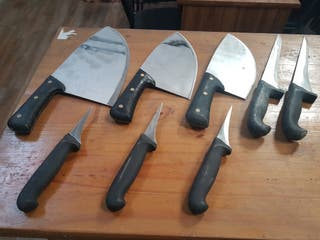 juego de cuchillos profesionales, para carniceria