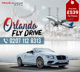 Fly drive Glasgow to Orlando| Call 0207 112 8313