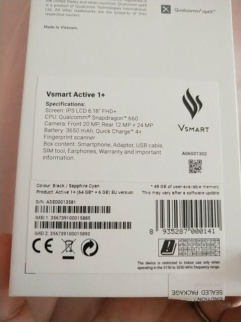 vsmart active 1 +
