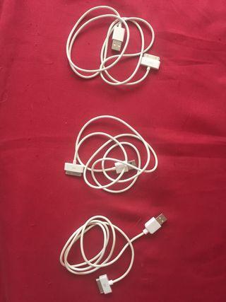 3 cargadores USB para iPhone 4