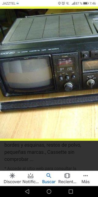 RADIO CASSETTE antiguo CONIC TV RECORDER
