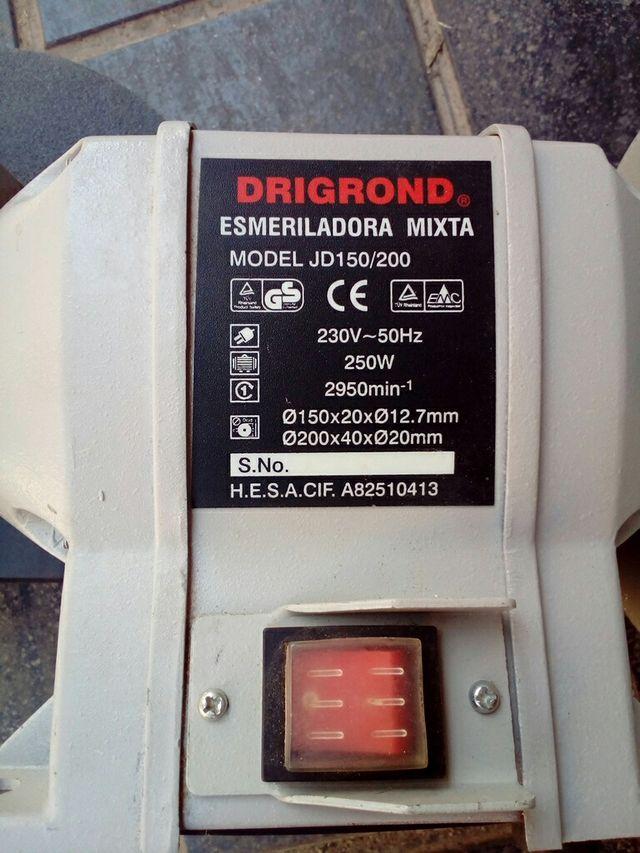Maquina amoladora mixta drigond
