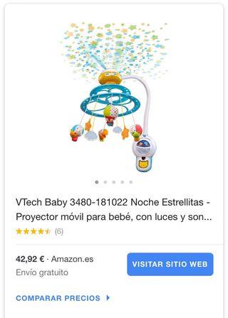 """Móvil proyector de cuna """"noche estrellitas VTech"""""""