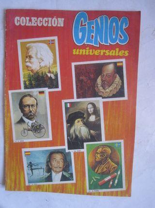 álbum de cromos colección genios universales