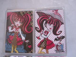 tarjetas cromo postales monster high panini álbum