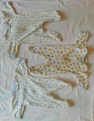 3 pijamas recién nacido