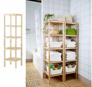 Estantería de madera Ikea baño