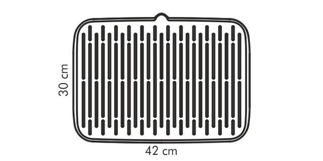 CLEANKIT Escurridor silicona Gris 42x30 cm