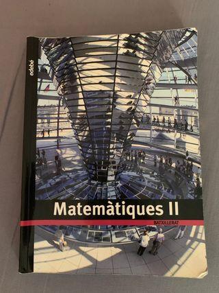 Libro Matemáticas 2o Bachillerato