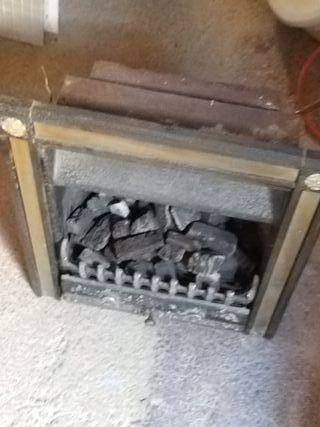horno de carbon a gas restaurado
