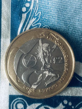 2 pound coin commonwealth games Scotland 2002.
