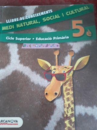 Libro Medi Natural 5 Barcanova