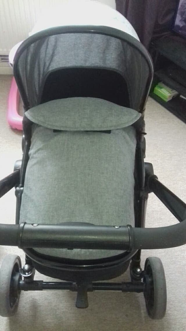 Grey RedKite pram buyer collects