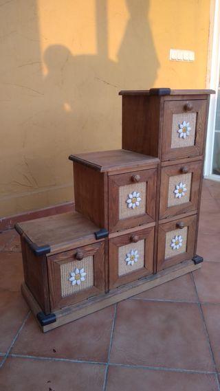 Mueble rustico para entrada