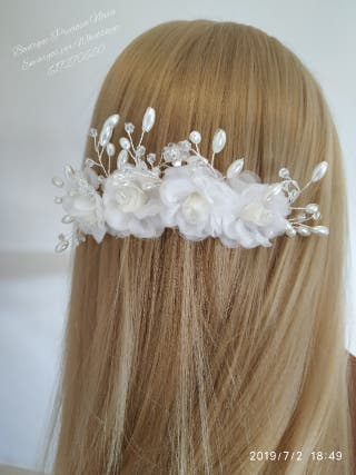 Tocado floral de novia ,invitada , chica ,niña