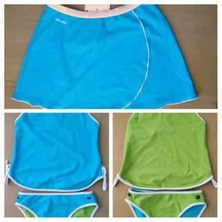 T. 10 años. Bañador-falda de natación de niña.