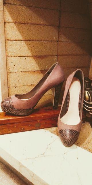 Zapatos Tacón T.36 Marrón. OFERTA!!!!.
