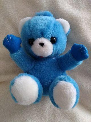 Oso peluche azul 16 cm