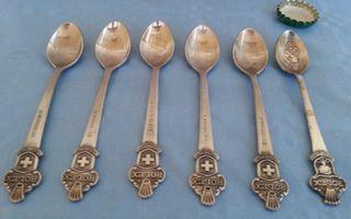 Cucharillas de té Rolex.. Colección de 6 unidades.