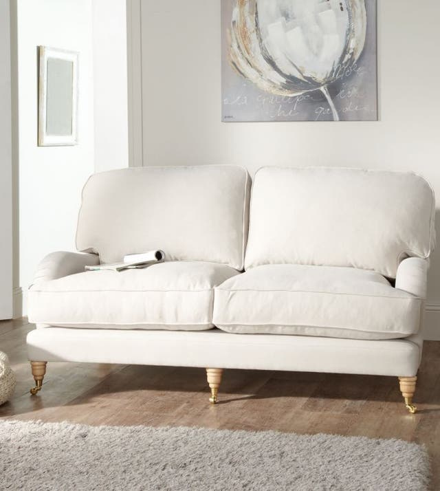 Brand new Sofa with castors legs, deep cushions