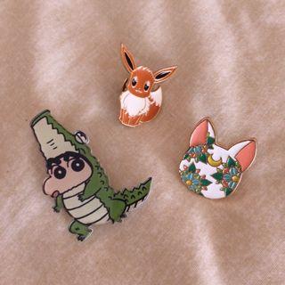 Broches Pins Pokémon, Shin Chan y Sailor Moon