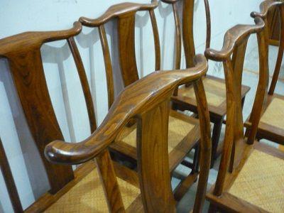 Conjunto 6 sillas rusticas madera maciza