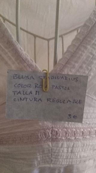 blusa rosa stradivarius