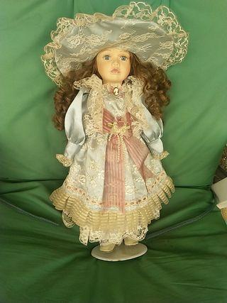 muñecas de porcelana de colección antigua