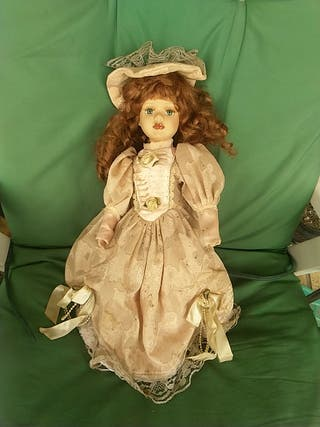 muñeca porcelana boda y sus amigas