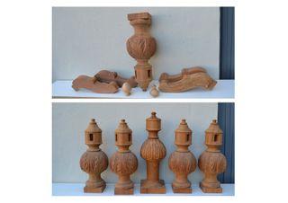 NUEVAS Columnas sapelli torneadas para mesa