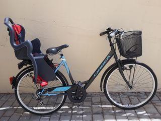 Bicicleta Orbea Strada con portabebés