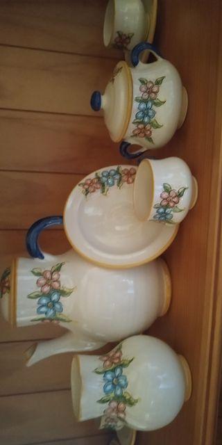 Juego de café cerámica Talavera 6 servicios