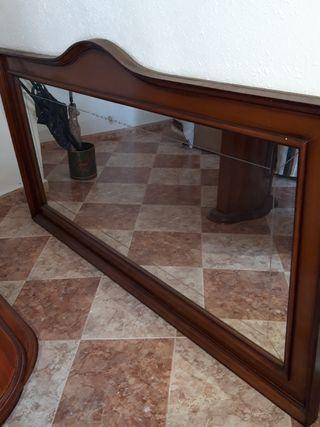 espejo para salón de madera 2 metros X 1,60