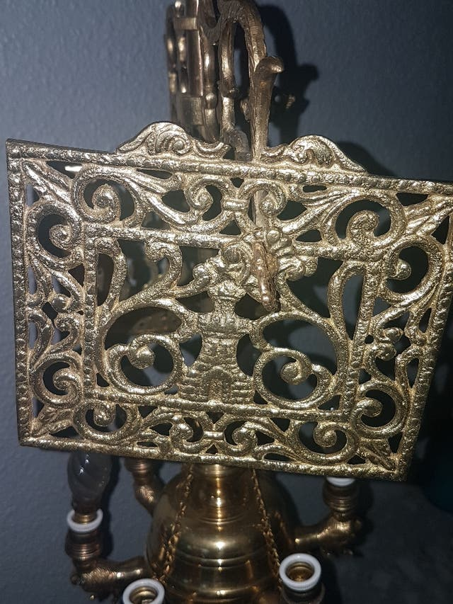 lampara antigua bronce