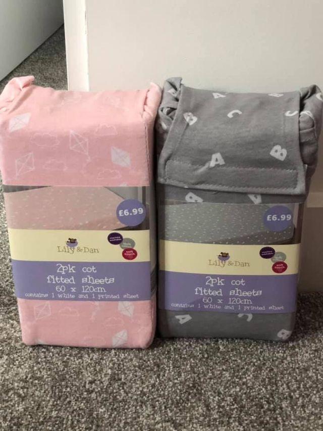 Girl cot sheets
