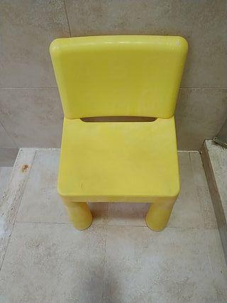 silla infantil plástico duro