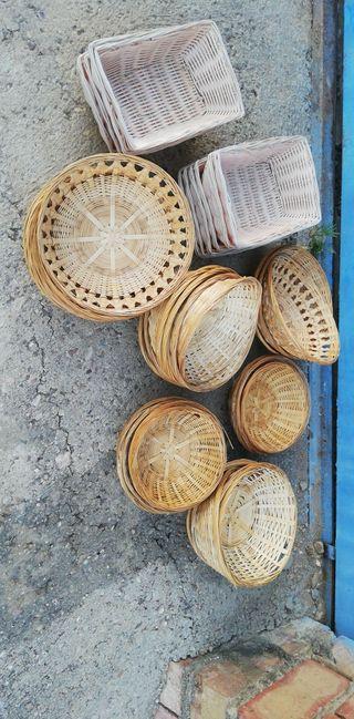 cestos para el pan de mimbre