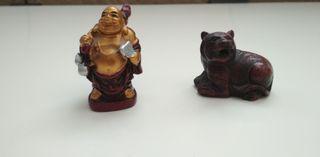 Figurines Buddha et Tigre